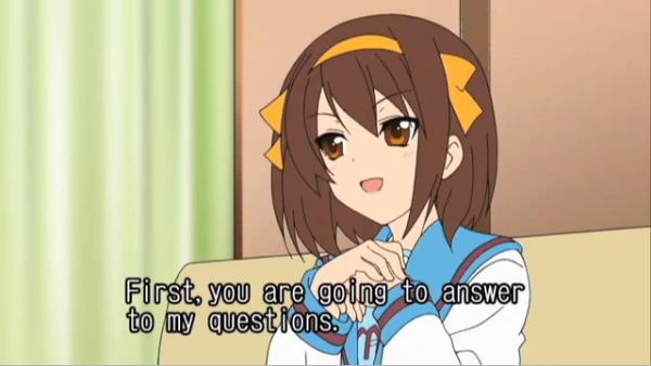 Haruhi questioning